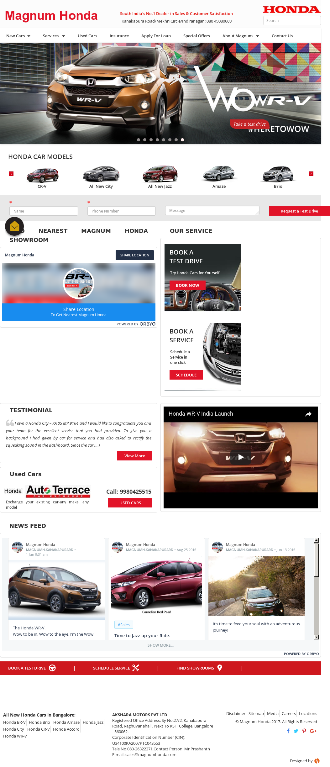 Magnum Honda Website History