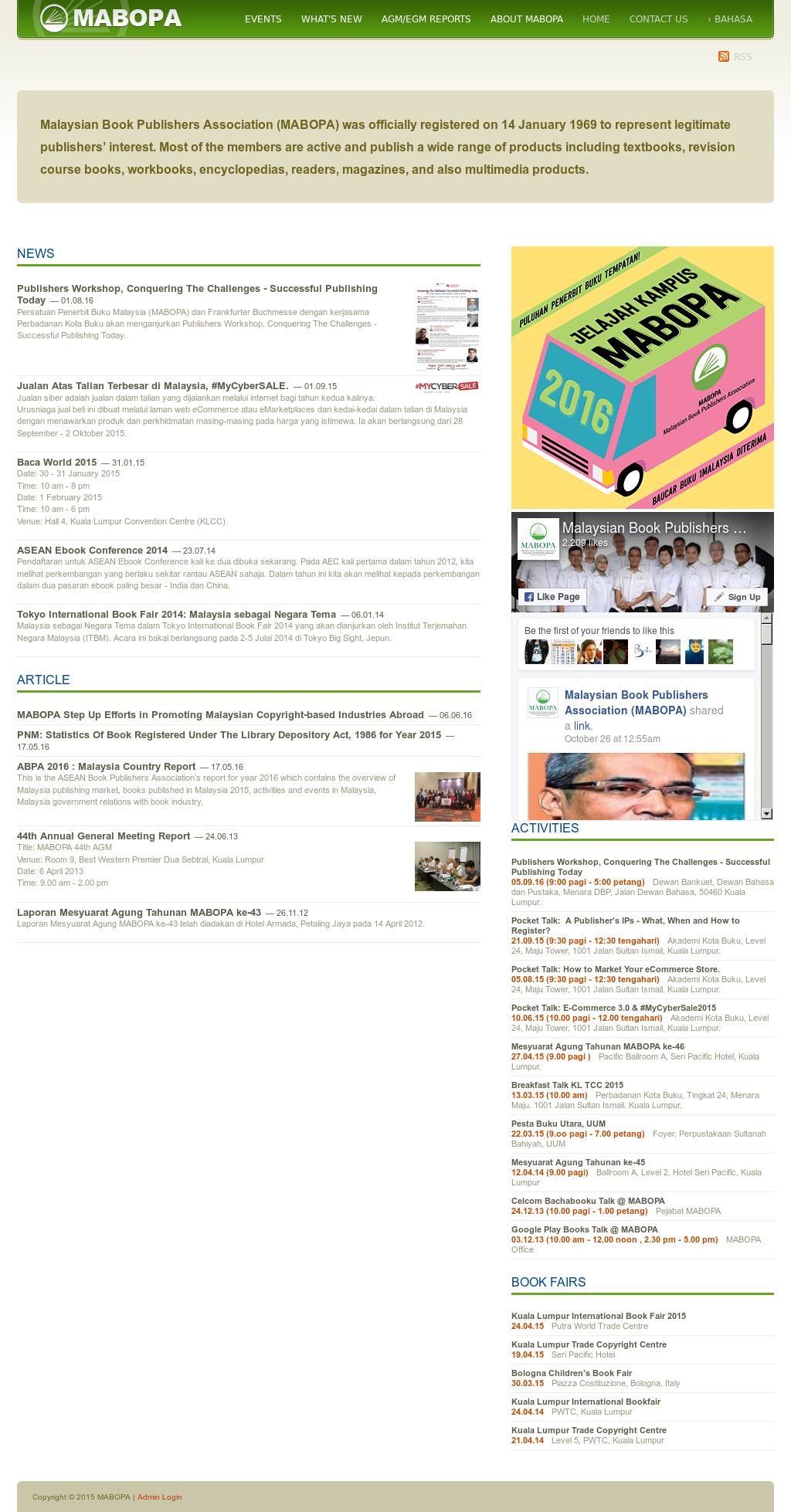 Malaysian Book Publishers Association (Mabopa) Competitors, Revenue