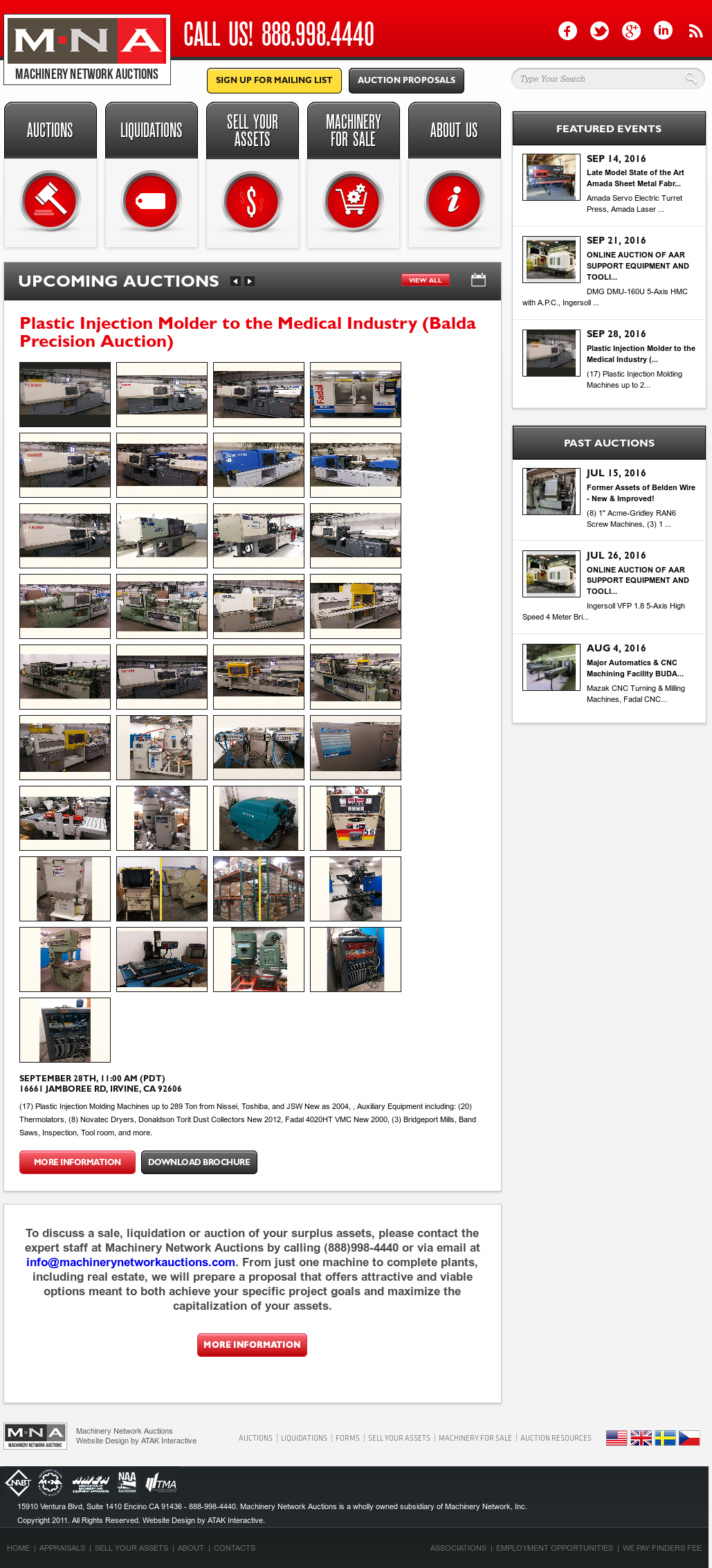 Machinery Network Auctions Competitors, Revenue and