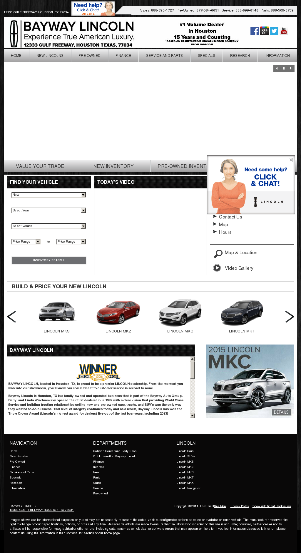 Lincoln Dealership Houston >> Bayway Lincoln Competitors Revenue And Employees Owler