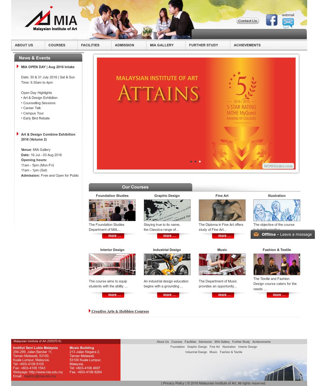 Malaysian Institute Of Art Mia Competitors Revenue And Employees Owler Company Profile