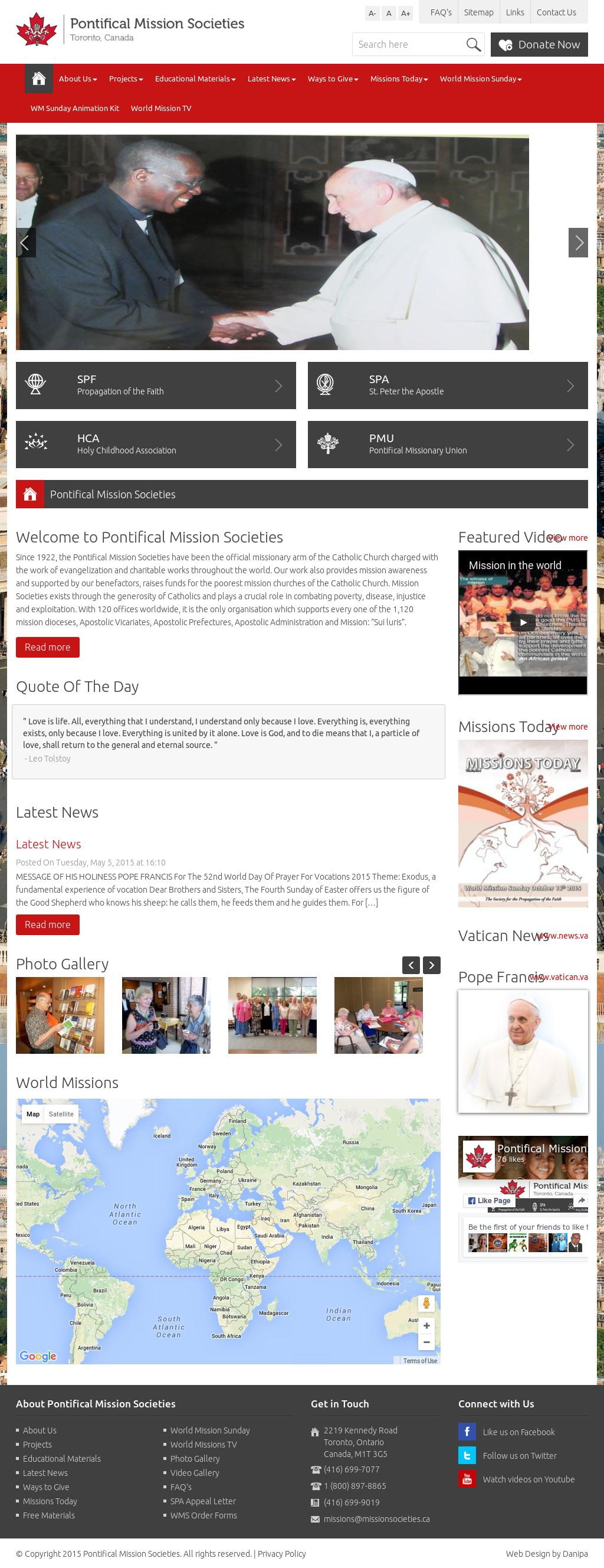 Pontifical Mission Societies - Toronto, Canada Competitors