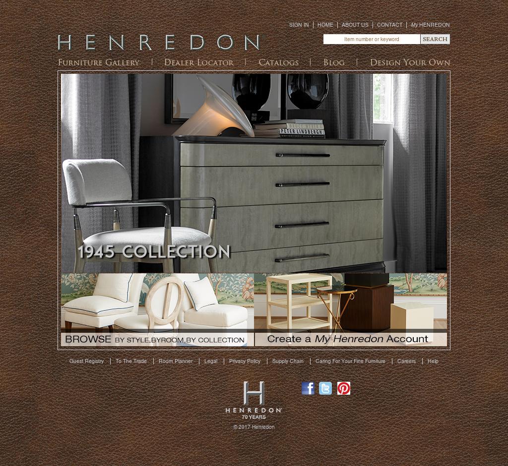 Henredon Furniture Website History