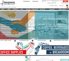 Benjamin Office Supply U0026 Services Website History