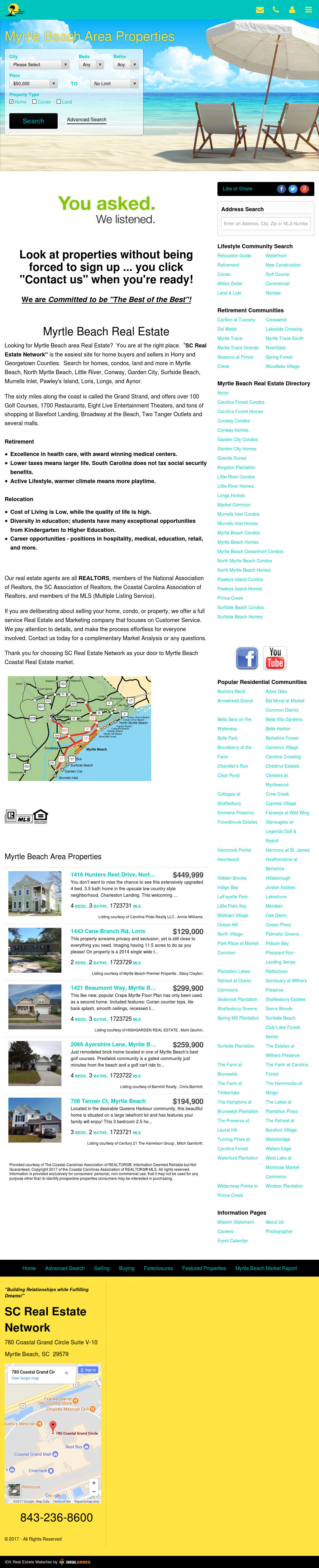 Sc Real Estate Network Myrtle Beach Website History