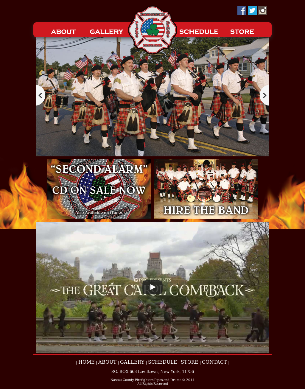 Nassau County Firefighters Pipes & Drums Competitors