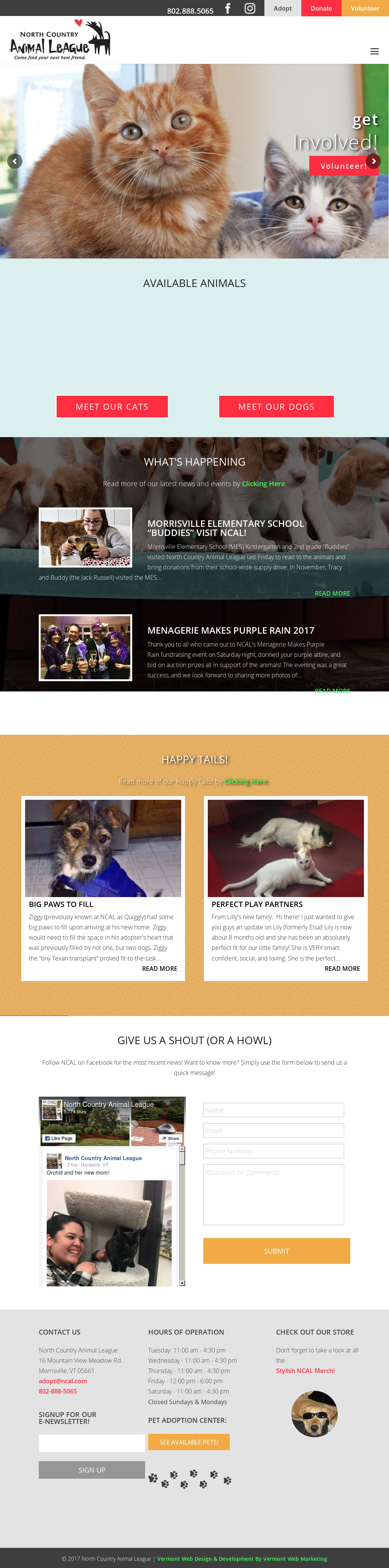 North Country Animal League Competitors, Revenue and