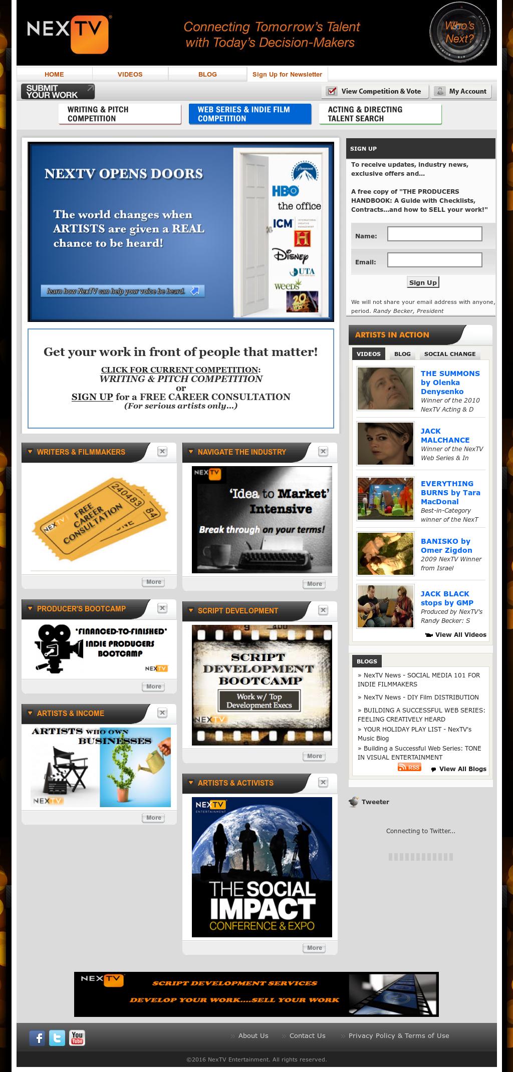 Nextv Entertainment Competitors, Revenue and Employees