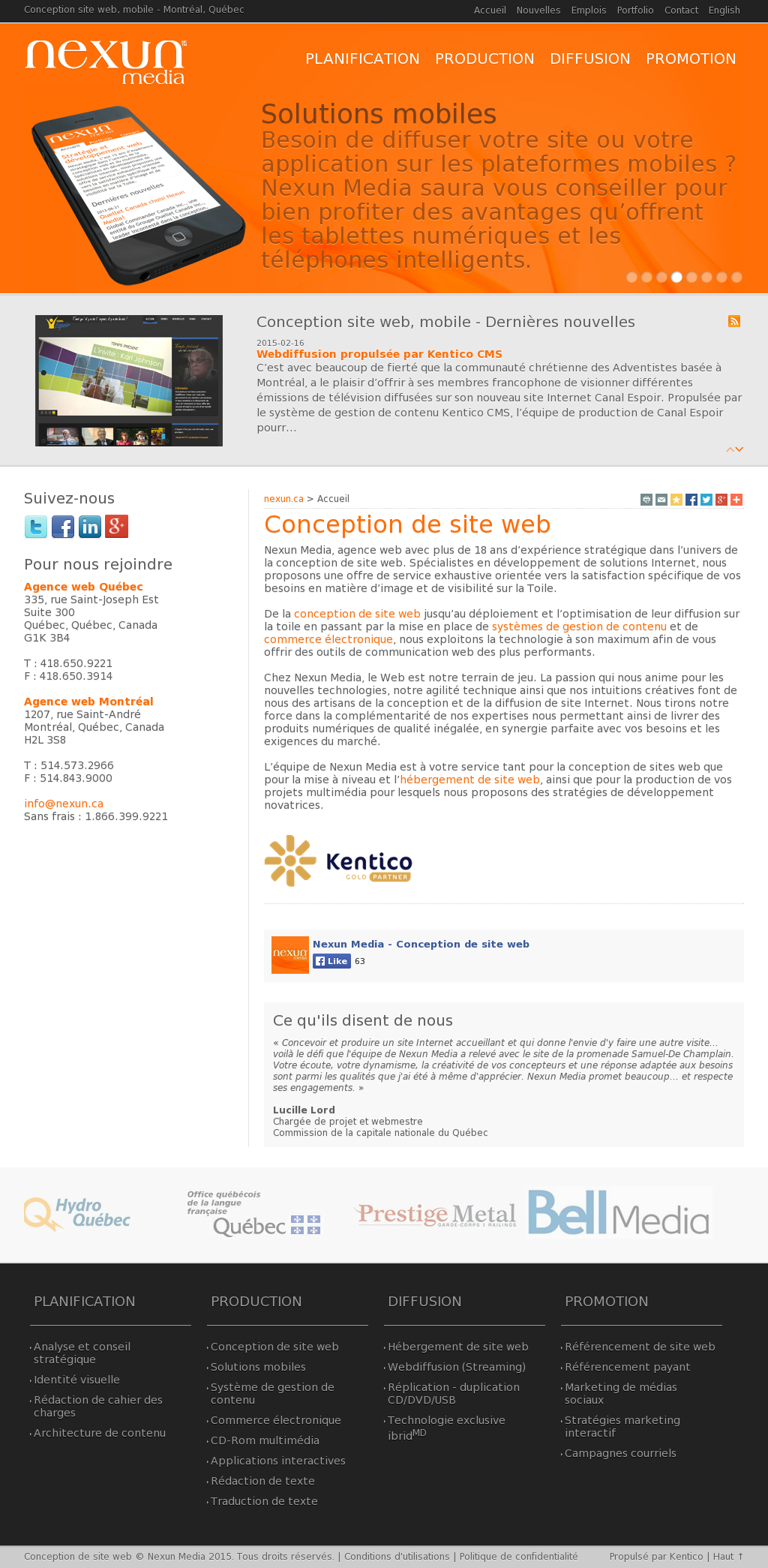 Nexun Media Conception De Site Web Competitors Revenue And