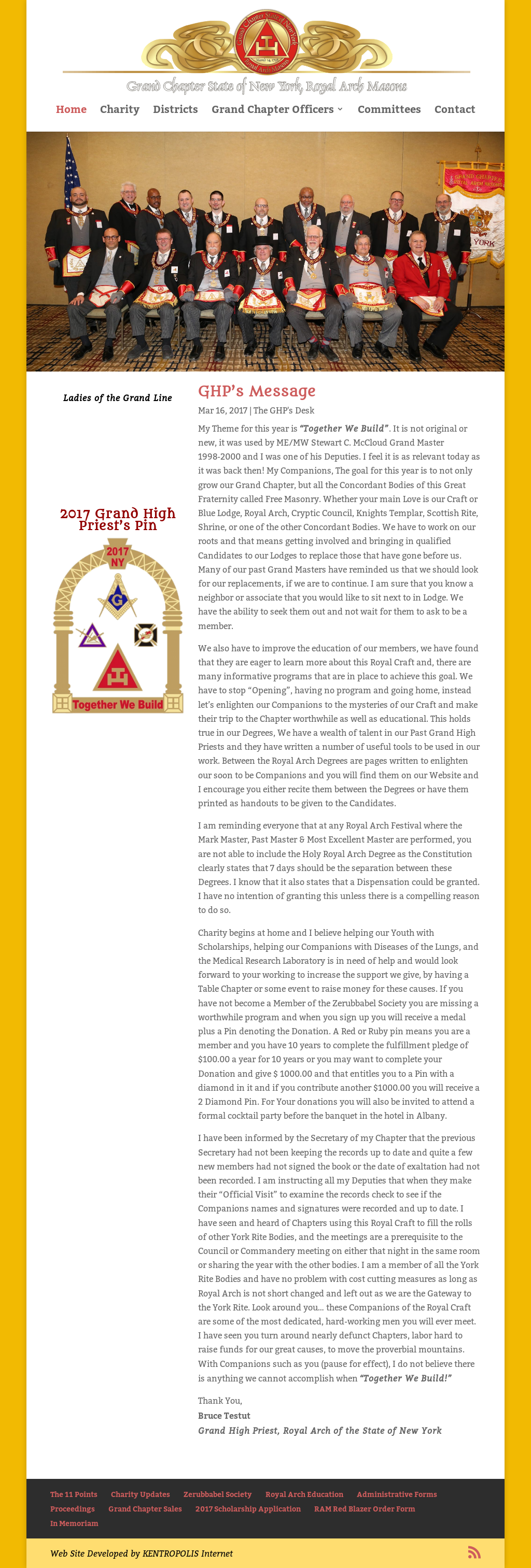 Grand Chapter Of New York, Royal Arch Masons Competitors