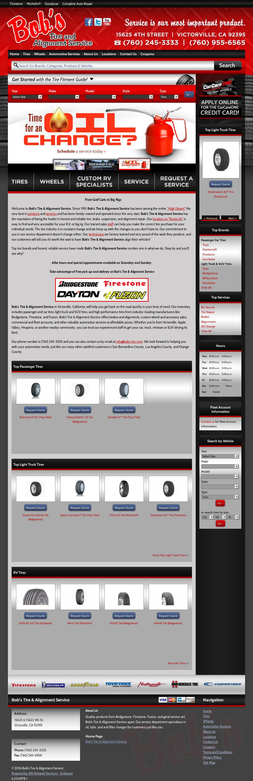 Firestone Hours Sunday >> Bob S Tire Alignment Service Competitors Revenue And