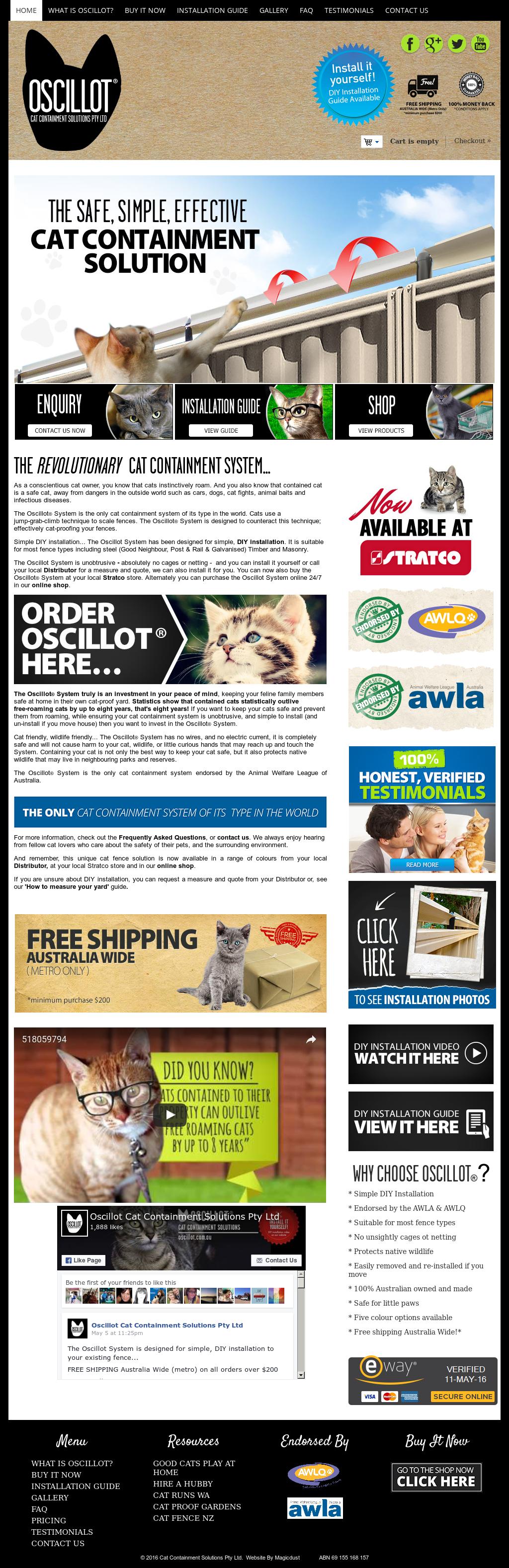 Oscillot Cat Containment Solutions Competitors, Revenue and