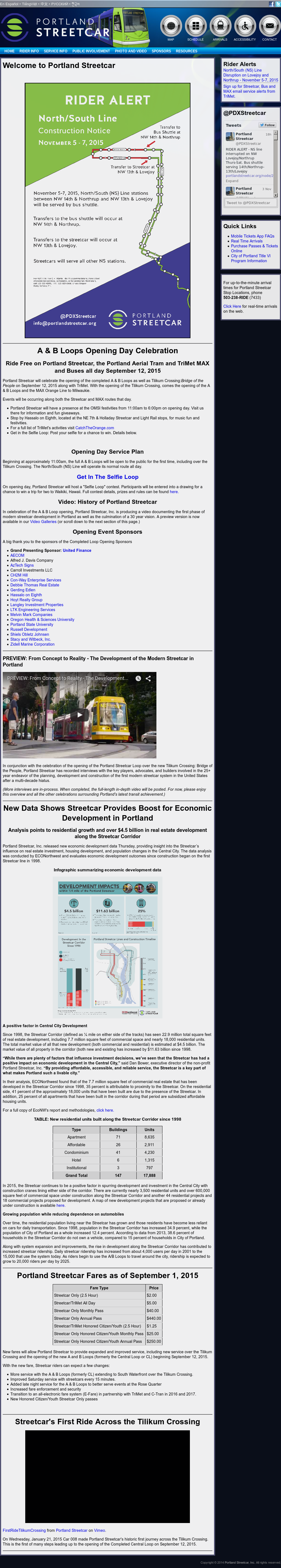 Portland Streetcar Competitors, Revenue and Employees