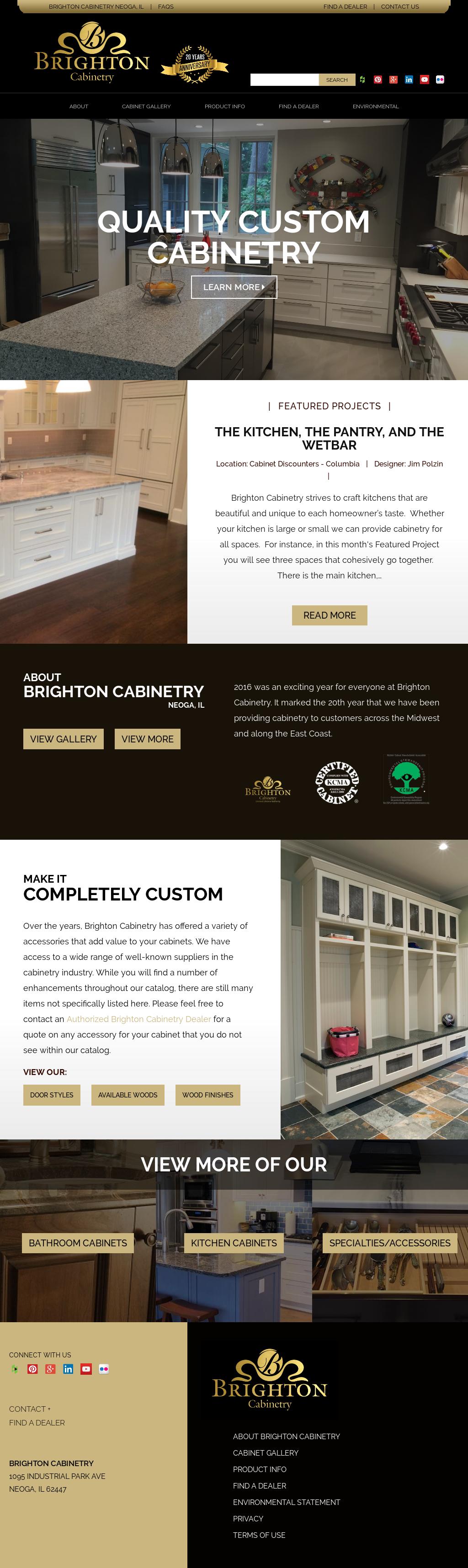 Brighton Cabinetry Website History