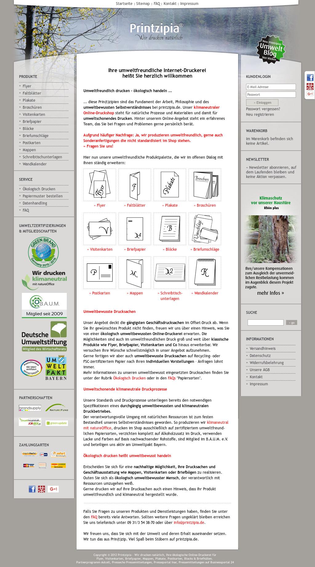 Printzipia Die Umweltfreundliche Druckerei Competitors