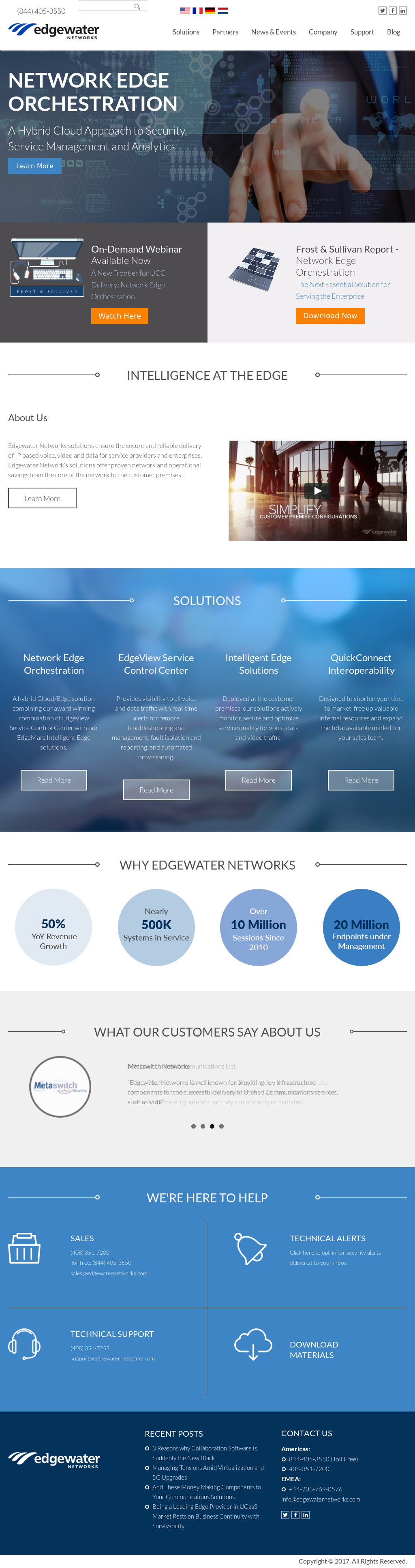 Edgewater Networks Competitors, Revenue and Employees