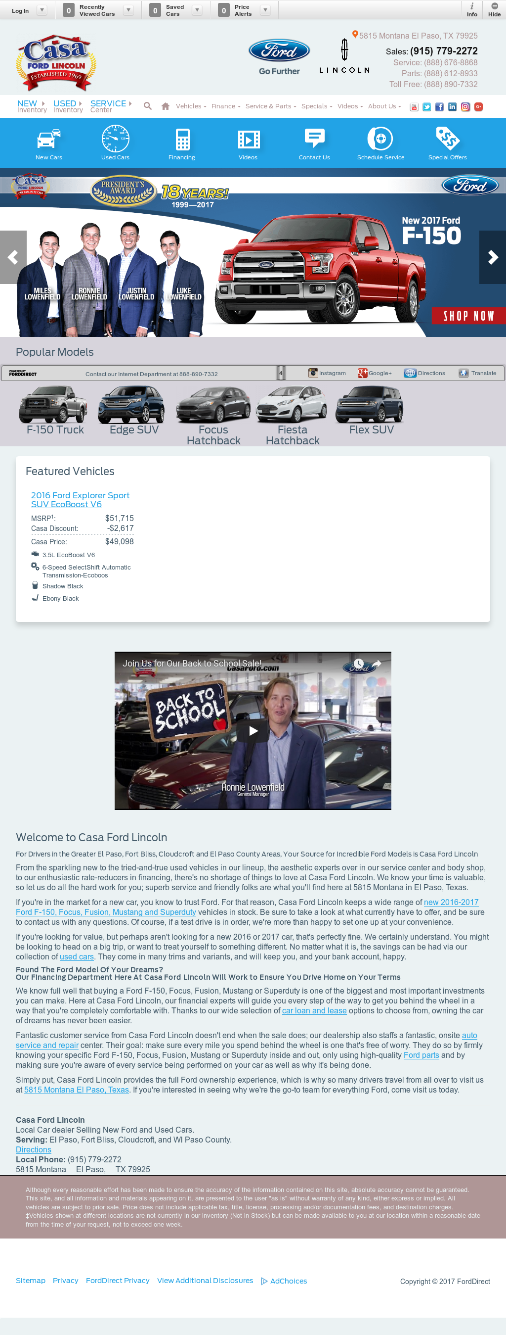 Casa Ford El Paso Tx >> Casa Ford Lincoln Competitors Revenue And Employees Owler