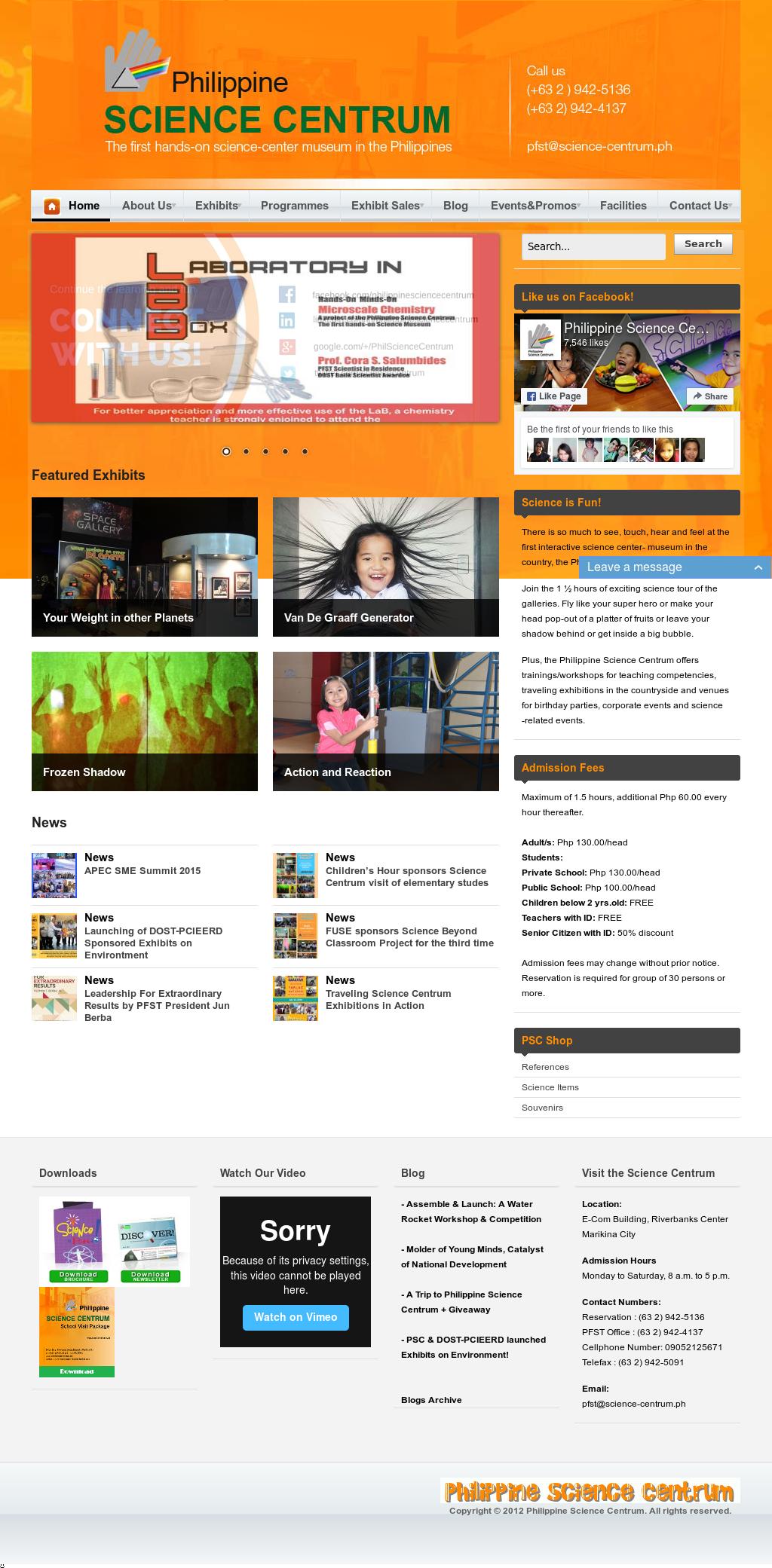 Philippine Science Centrum Competitors, Revenue and