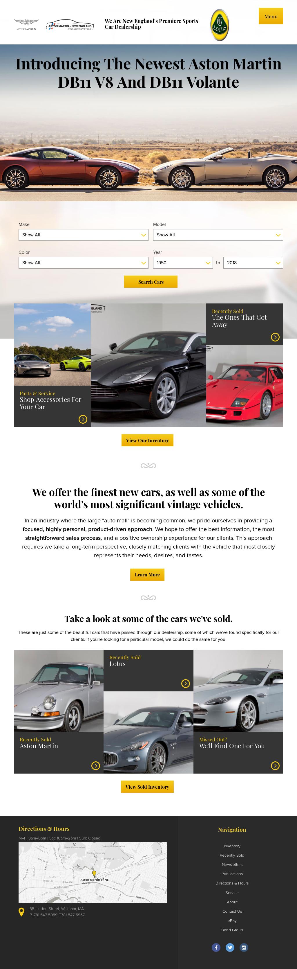 Aston Martin Of New England Competitors Revenue And Employees - Aston martin new england