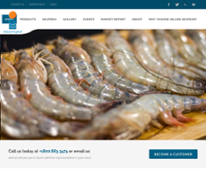 Inland Seafood website history
