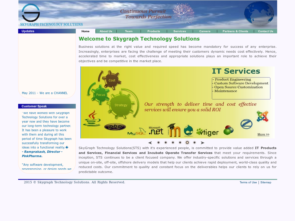 Skygraph Technology Solutions Competitors, Revenue and Employees