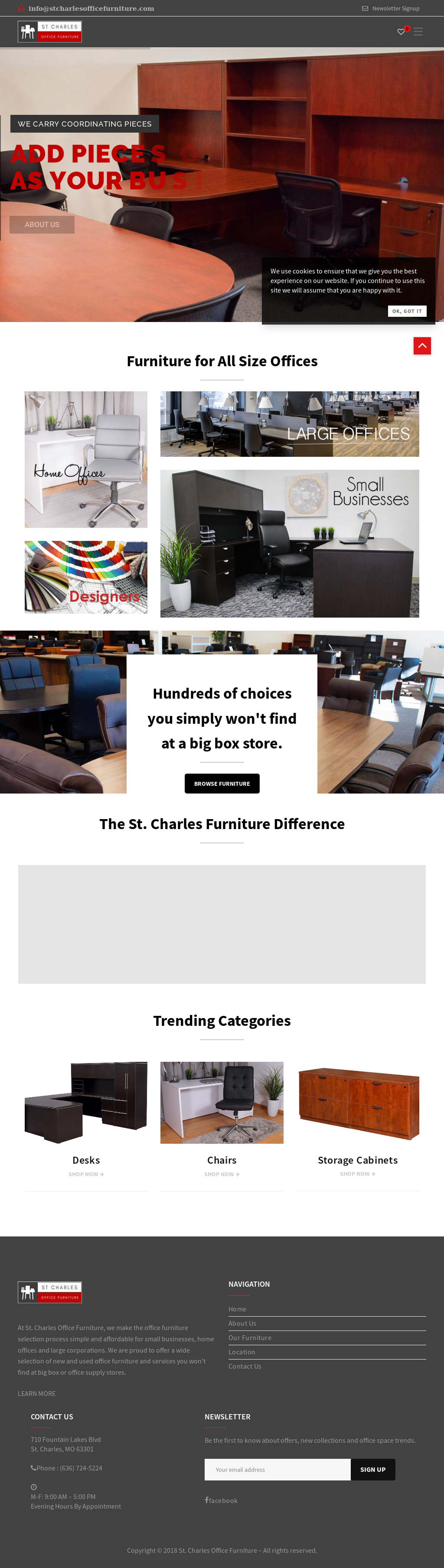 St. Charles Office Furniture Website History