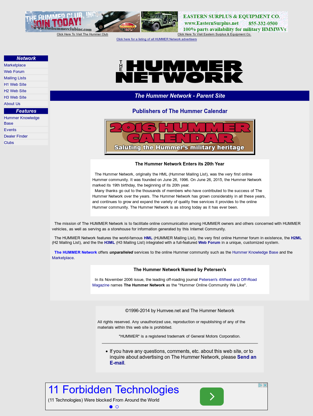 Humvee net And The Hummer Network Competitors, Revenue and