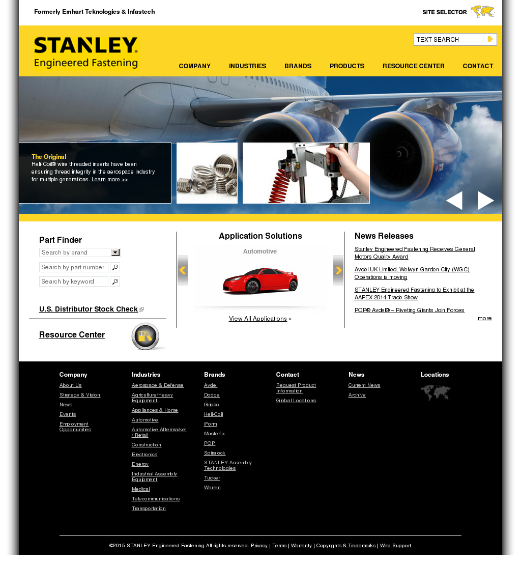 STANLEY Engineered Fastening Competitors, Revenue and