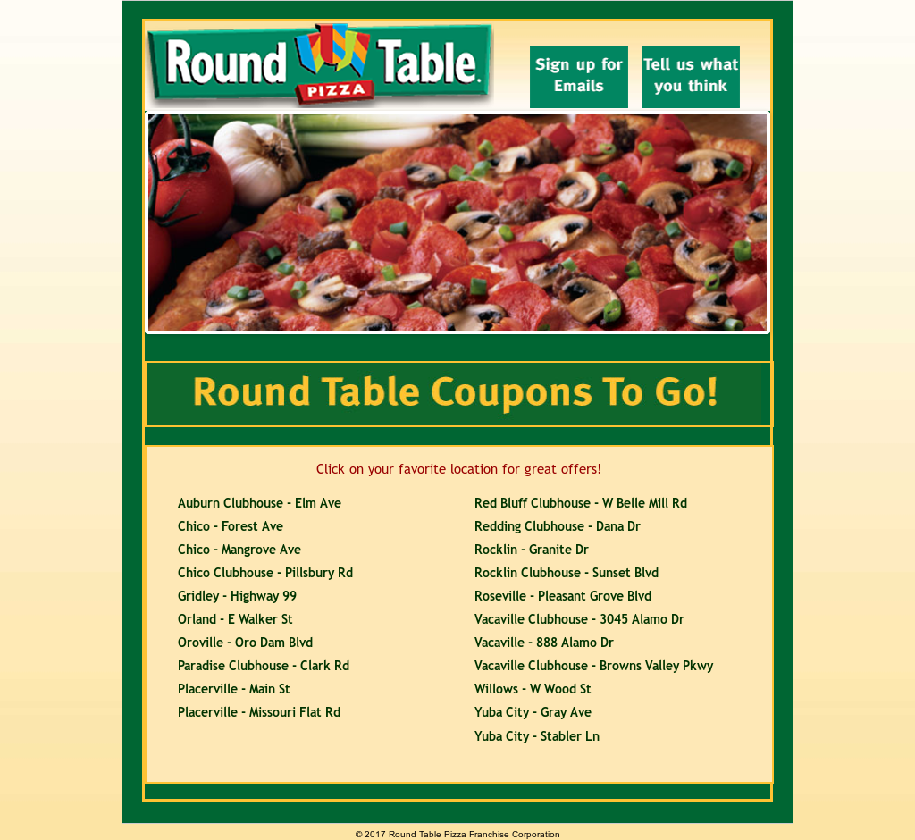 Round Table Pizza Franchise Competitors Revenue And
