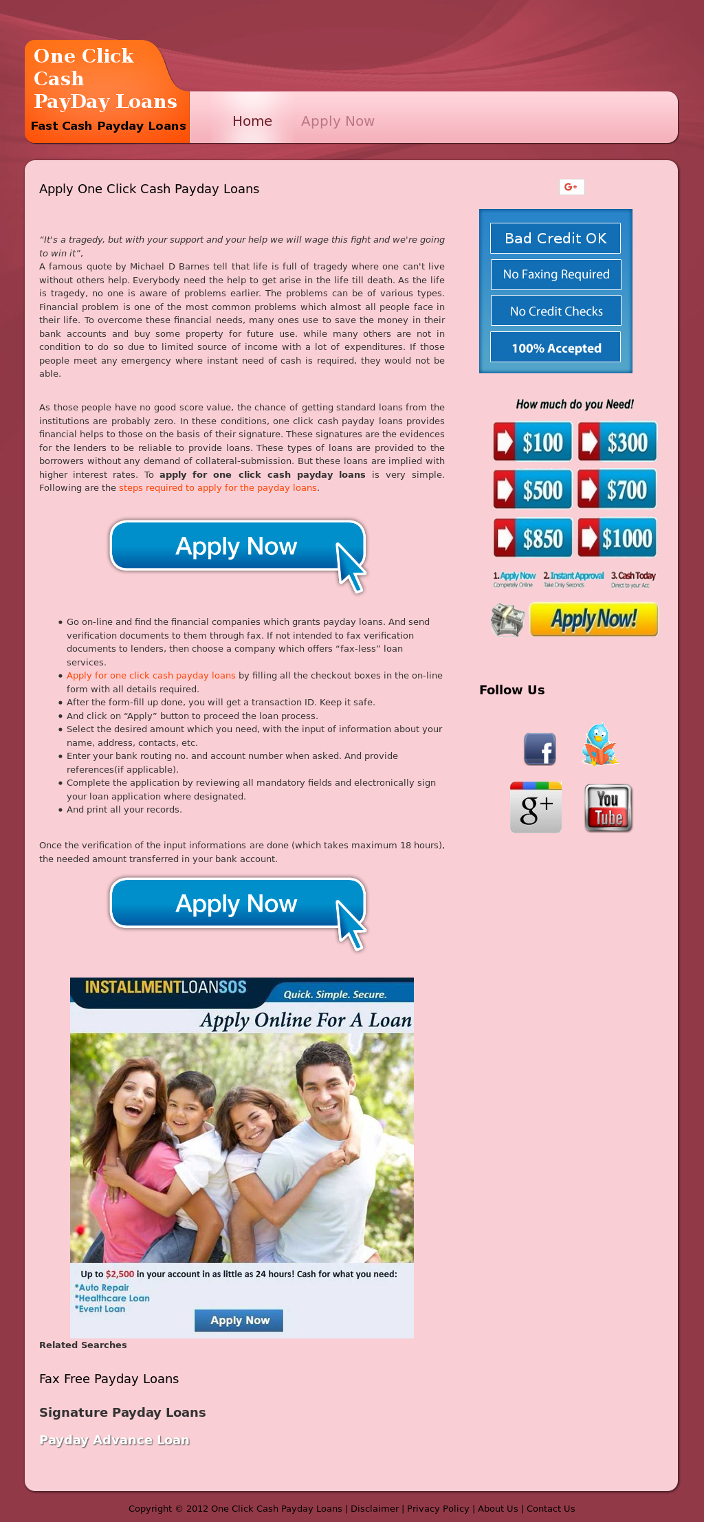 One Click Loan >> One Click Cash Payday Loans Competitors Revenue And Employees