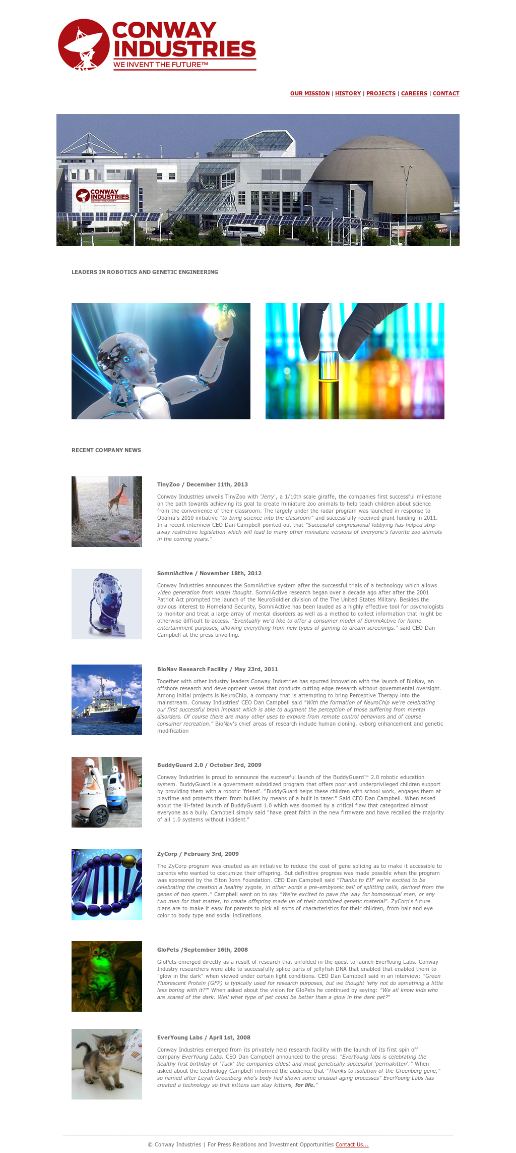 conway industries website history