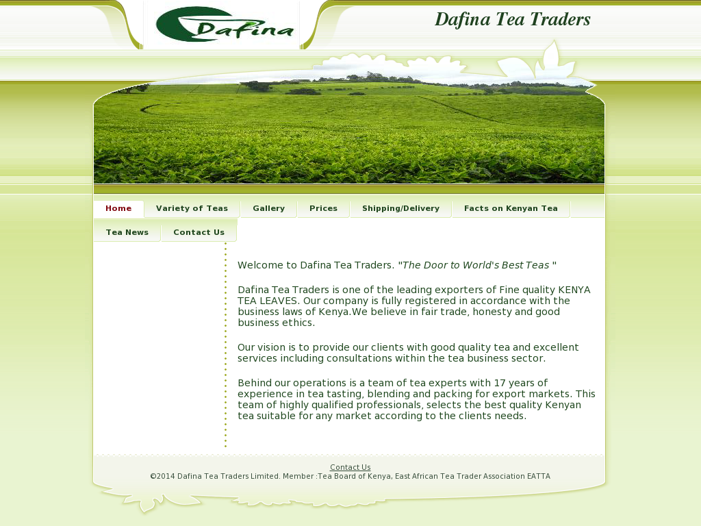 Dafina Tea Traders Competitors, Revenue and Employees