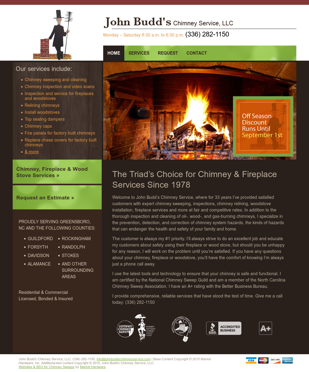 john budds chimney sweep service