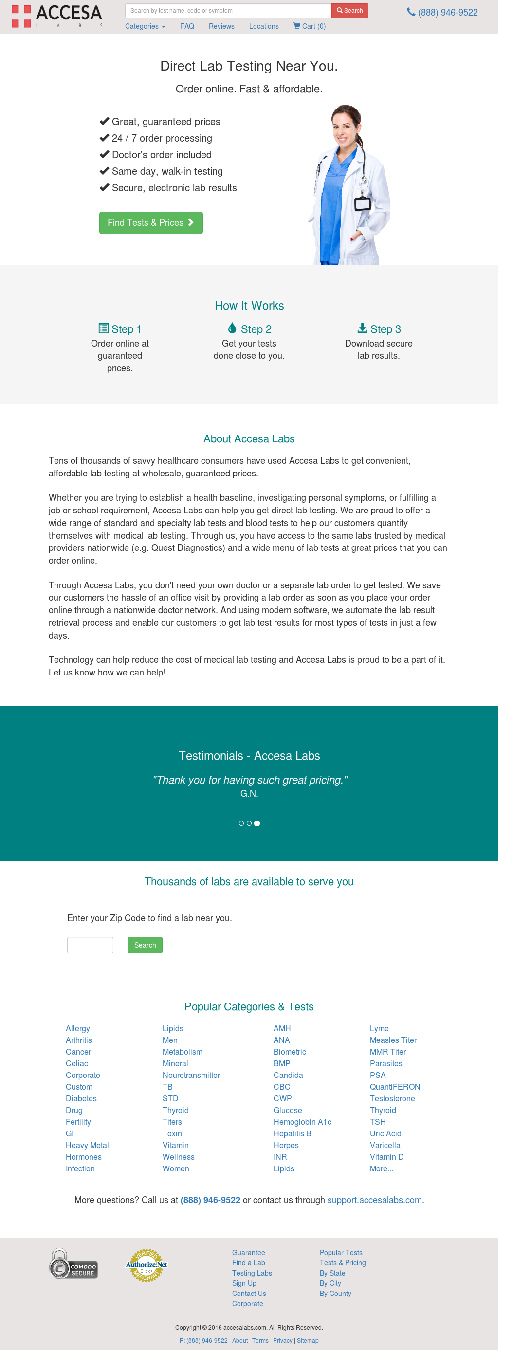 Accesa Labs - Online Medical Lab Testing Competitors