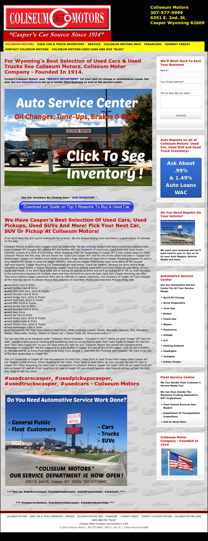 Coliseum motor competitors revenue and employees owler for Coliseum motor company casper wy