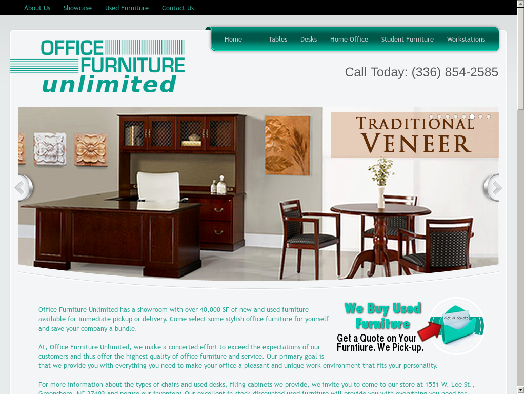 Office Furniture Unlimited Website History