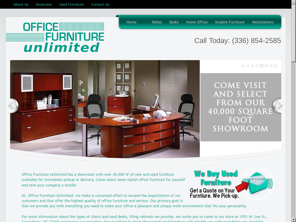 Awesome Office Furniture Unlimited Website History