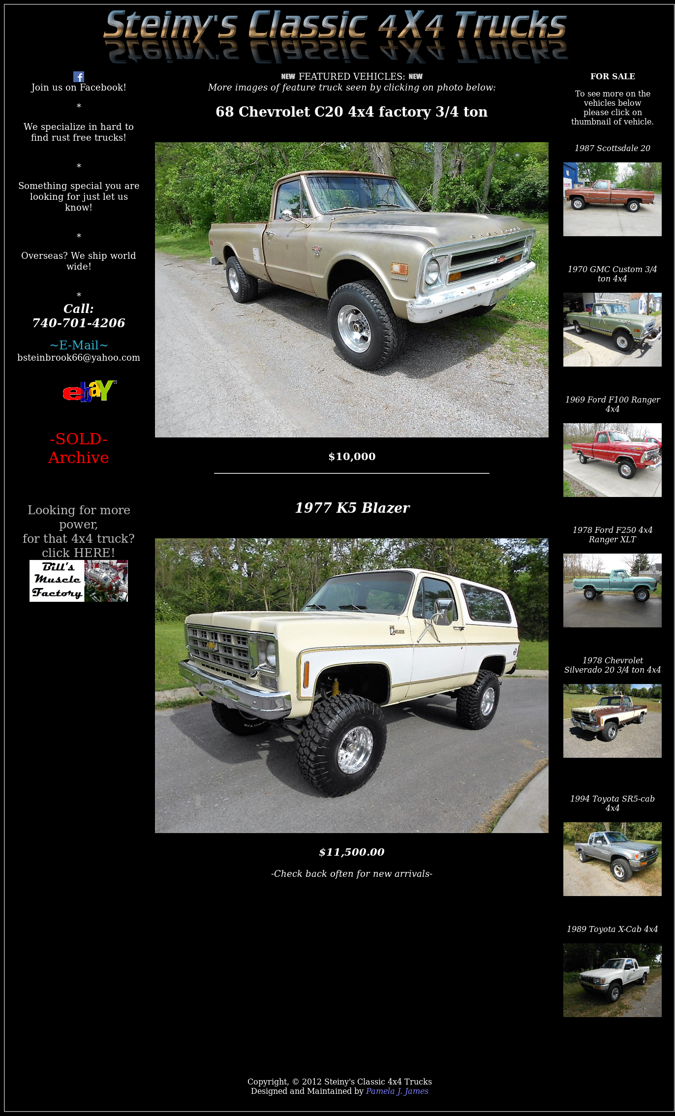 Steinys Classic 4x4 Trucks Competitors Revenue And Employees 1969 Ford Ranger Xlt Owler Company Profile