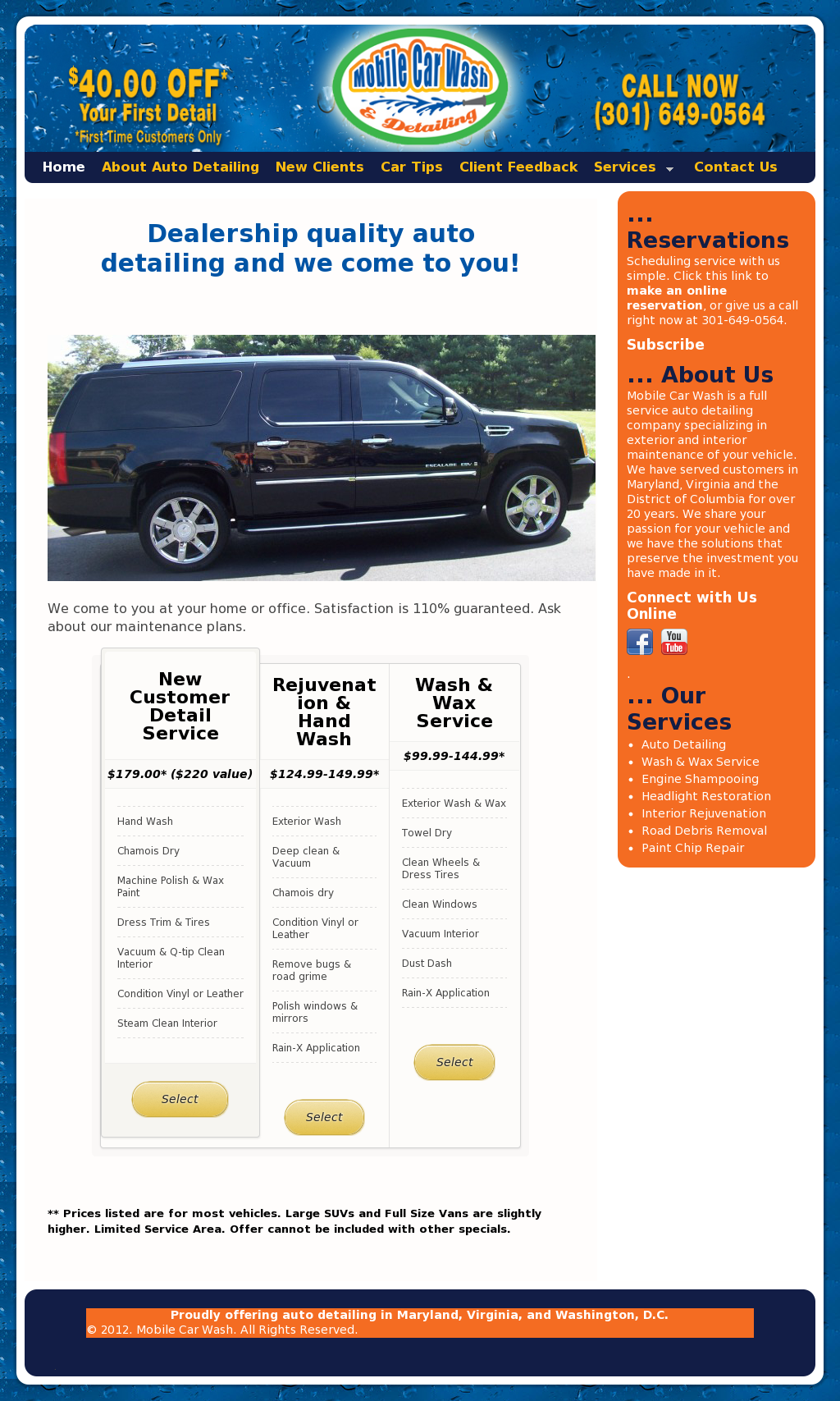 Mobile Car Wash And Detailing Competitors, Revenue and