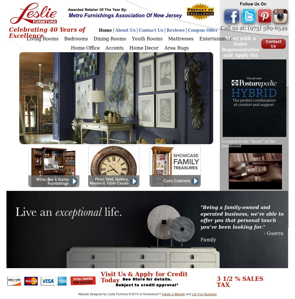 Leslie Furniture Website History