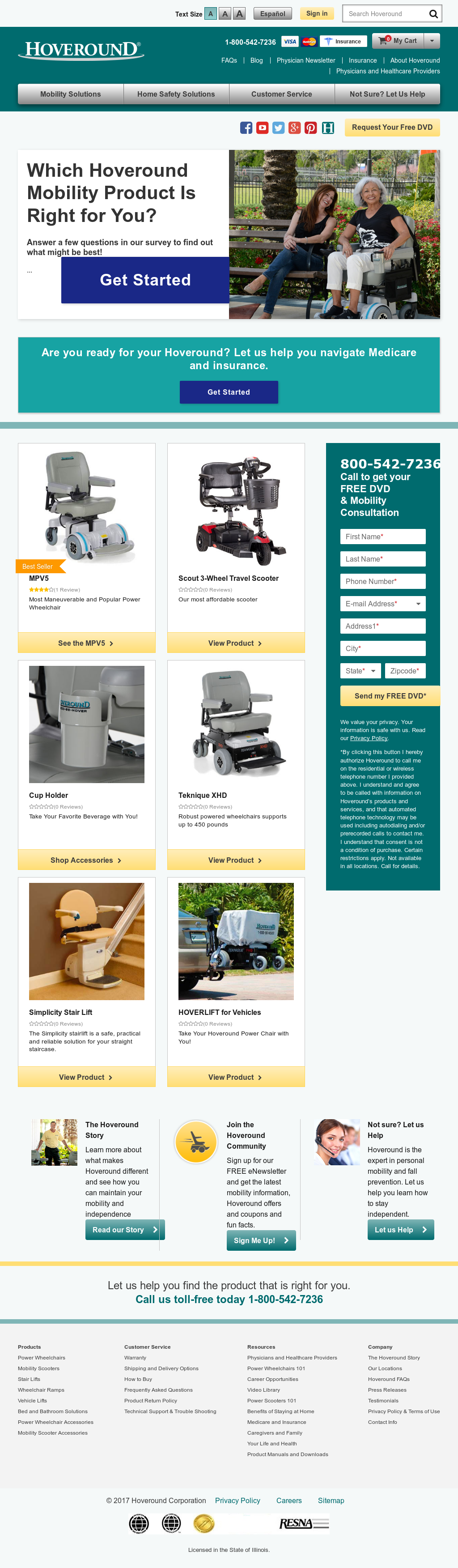 Hoveround website history  sc 1 st  Owler & Hoveround Competitors Revenue and Employees - Owler Company Profile