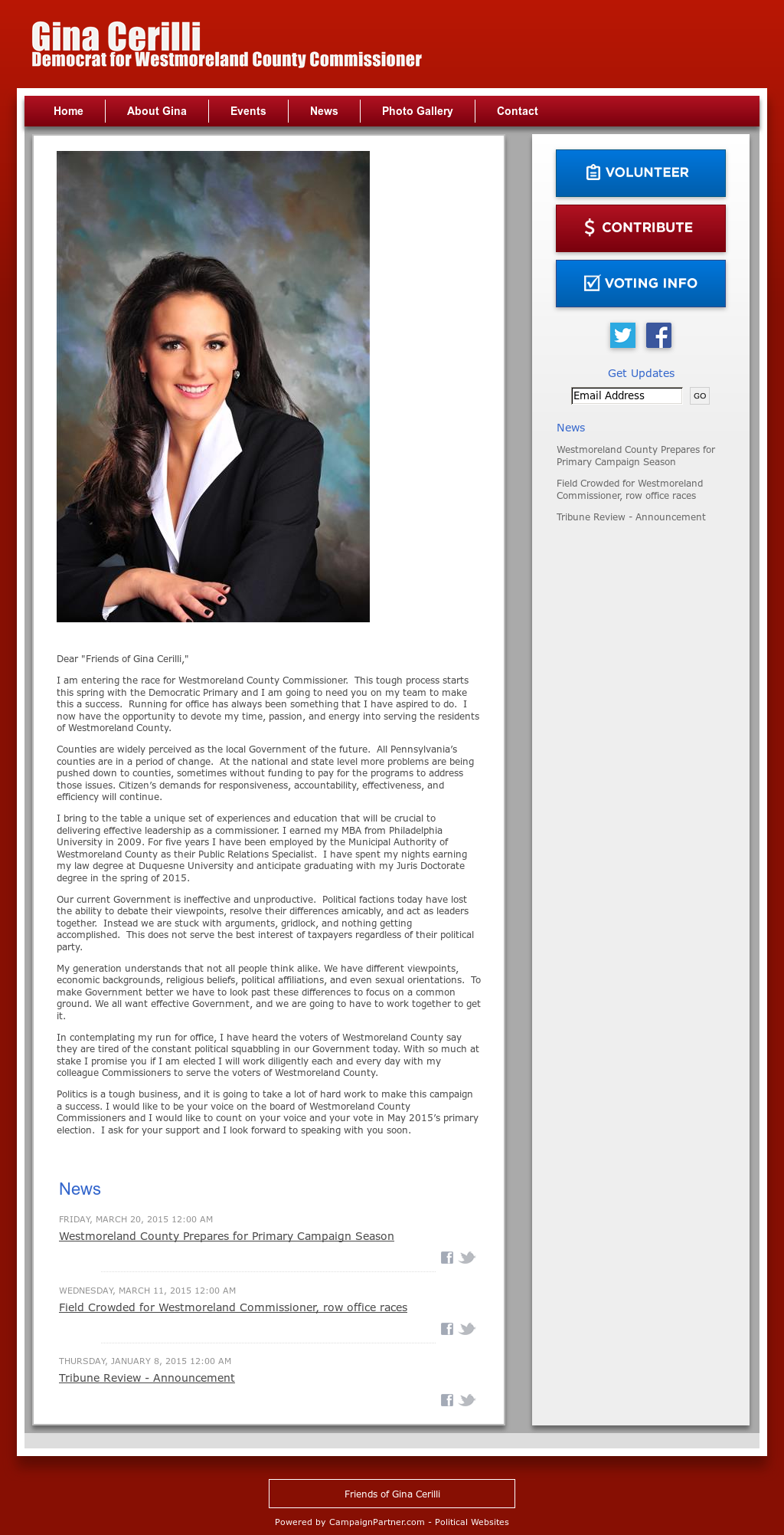 Gina Cerilli For Westmoreland County Commissioner Competitors