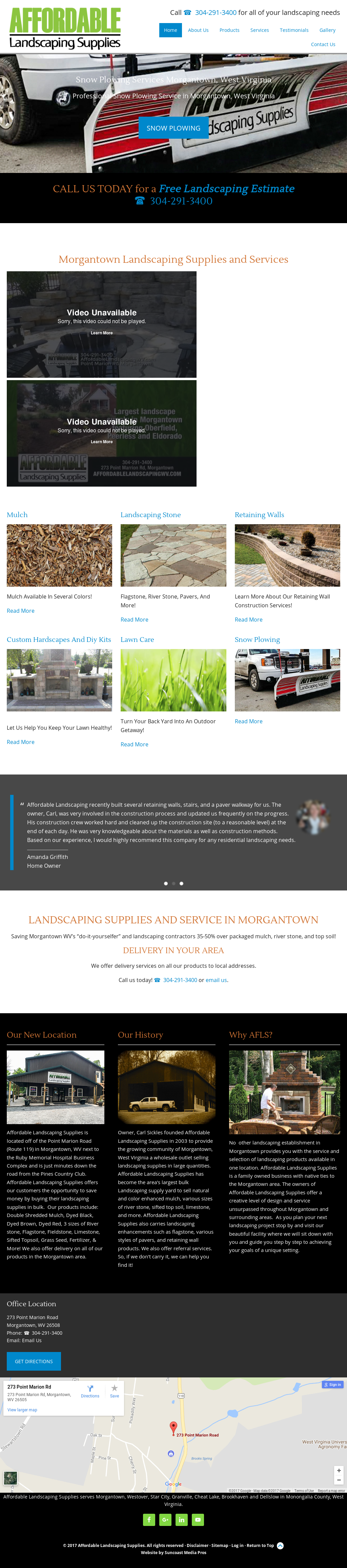affordable landscaping supplies competitors revenue and employees