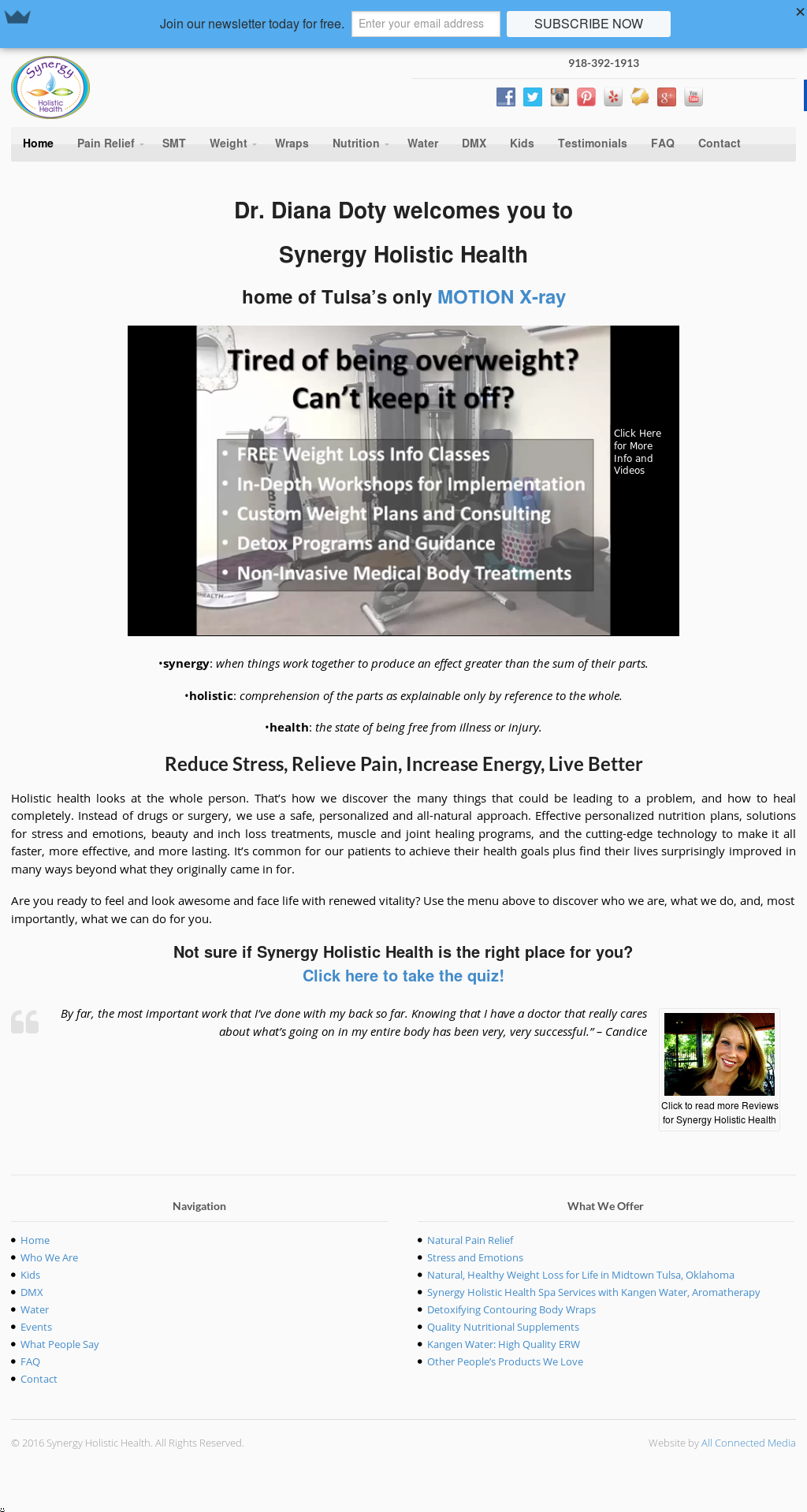 Synergy Holistic Health Competitors, Revenue and Employees
