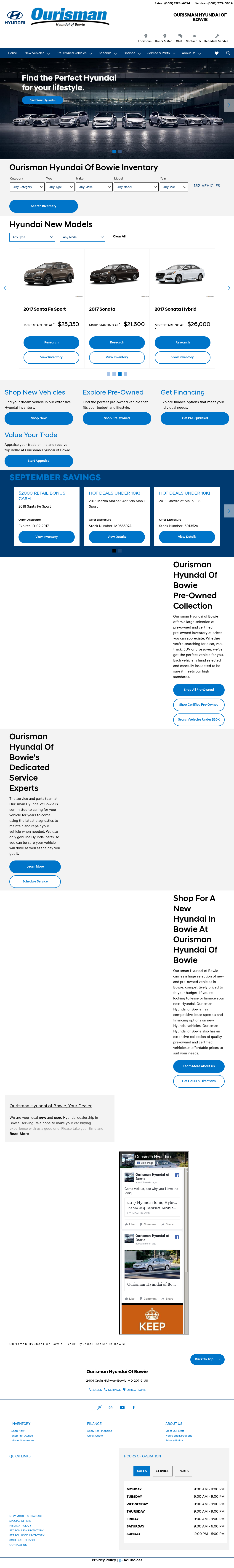 Ourisman Hyundai Of Bowie Website History
