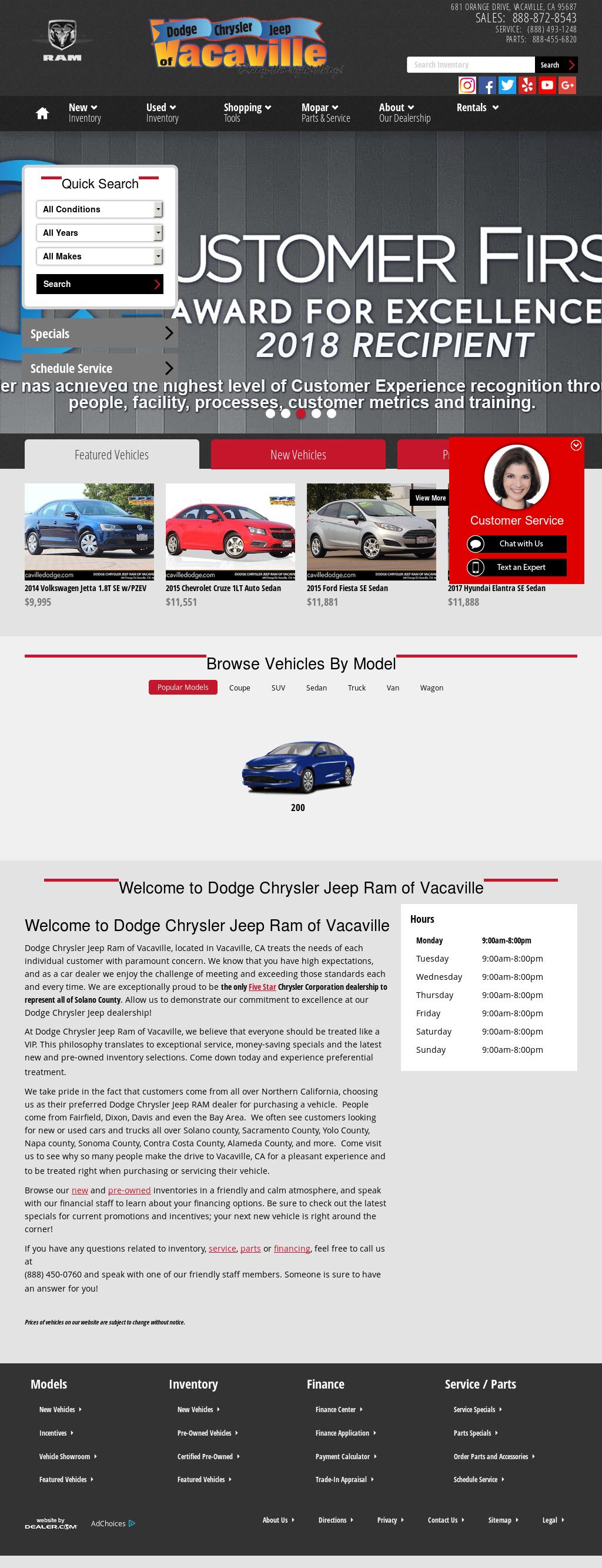 Dodge Chrysler Jeep Of Vacaville Website History
