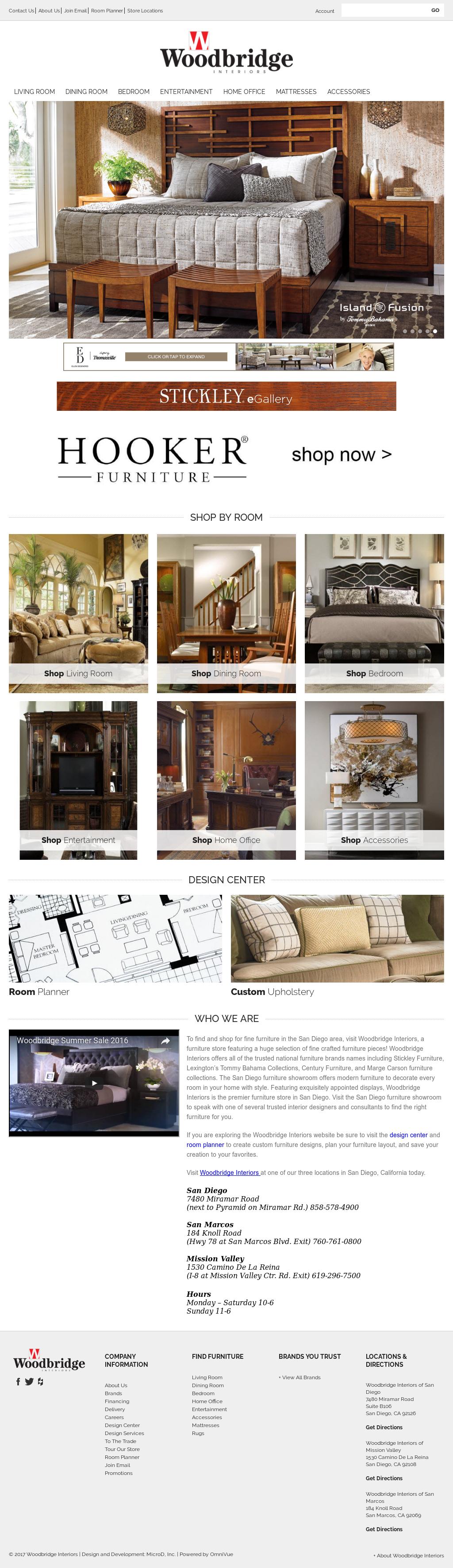 Merveilleux Woodbridge Interiors San Diego Website History