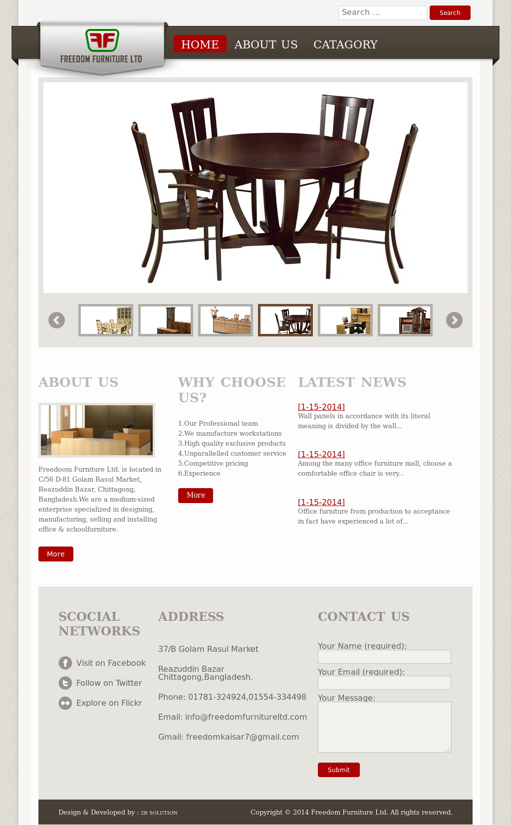 Freedom Furniture Website History