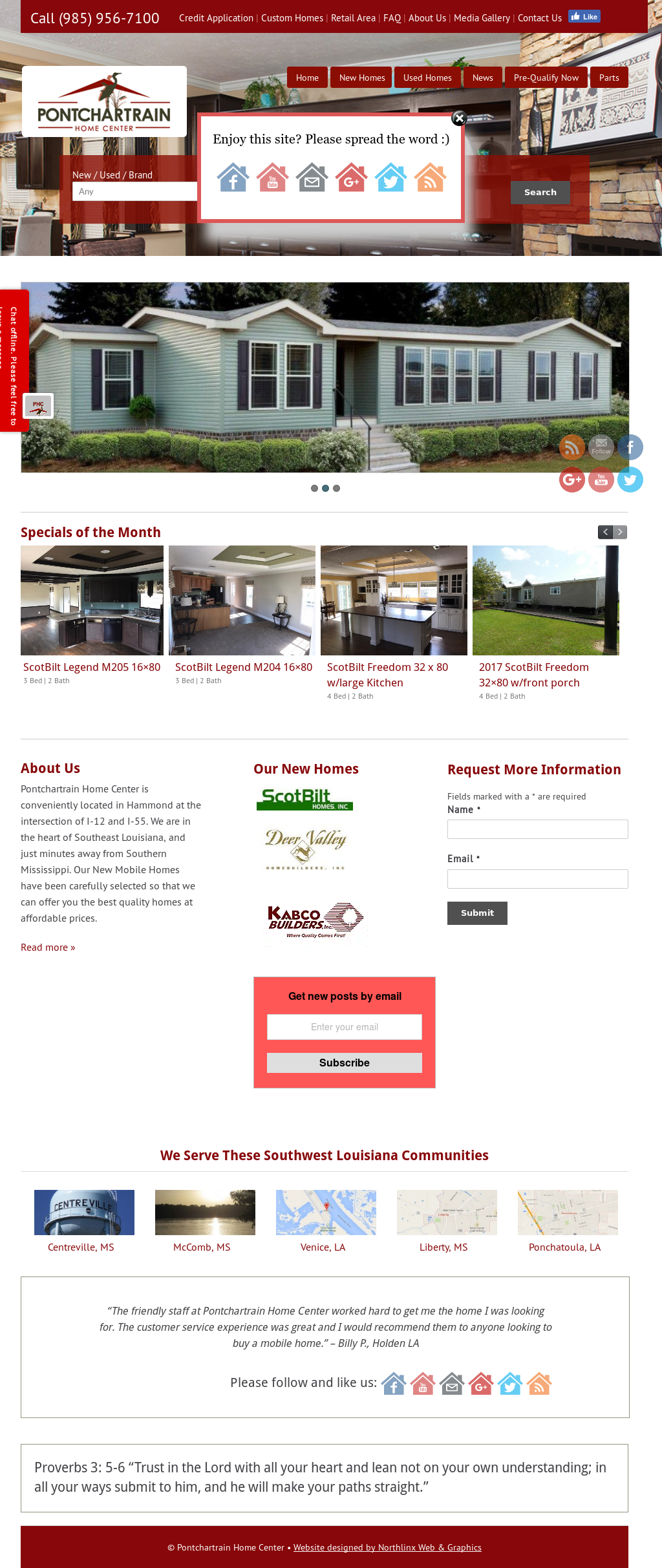 Pontchartrain Home Center- New & Used Mobile Home Sales Competitors
