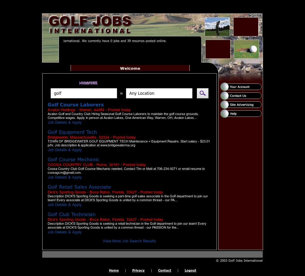 Golf Jobs International Competitors, Revenue and Employees